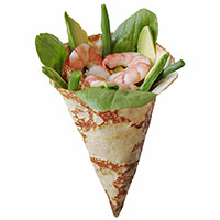 Shrimp Avocado Crepe